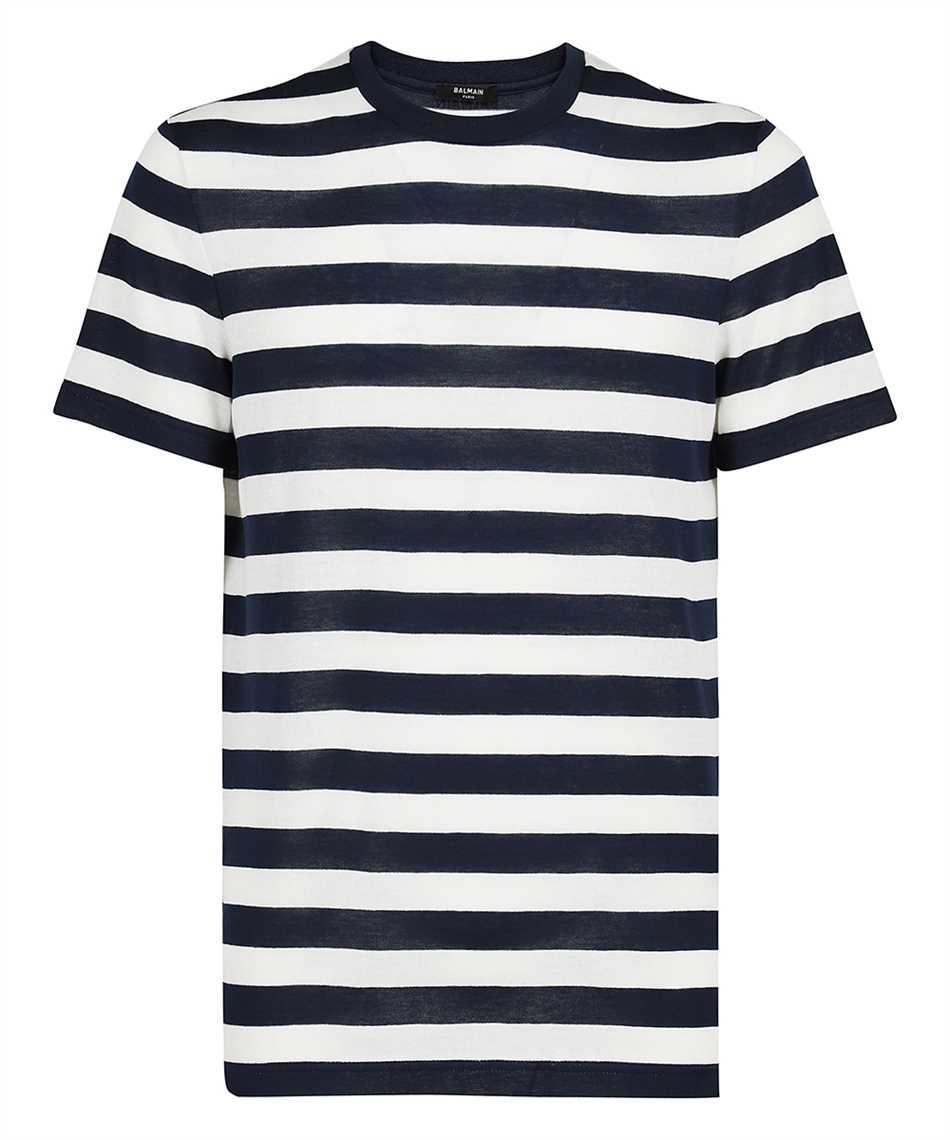 Balmain WH0EF000J333 BACK STRIPPED T-shirt 1