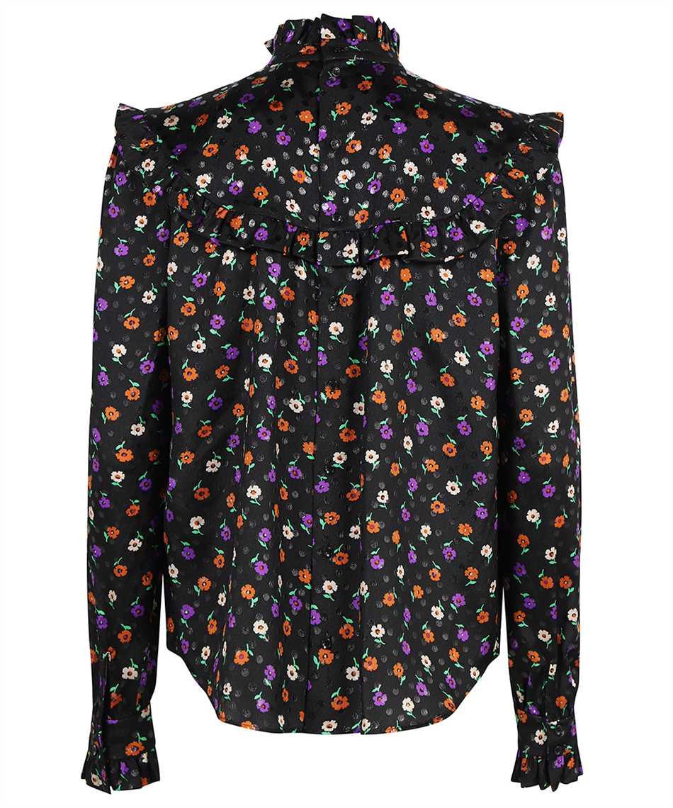 Saint Laurent 660875 Y811T MATTE AND SHINY LAMÉ FLORAL SILK Shirt 2