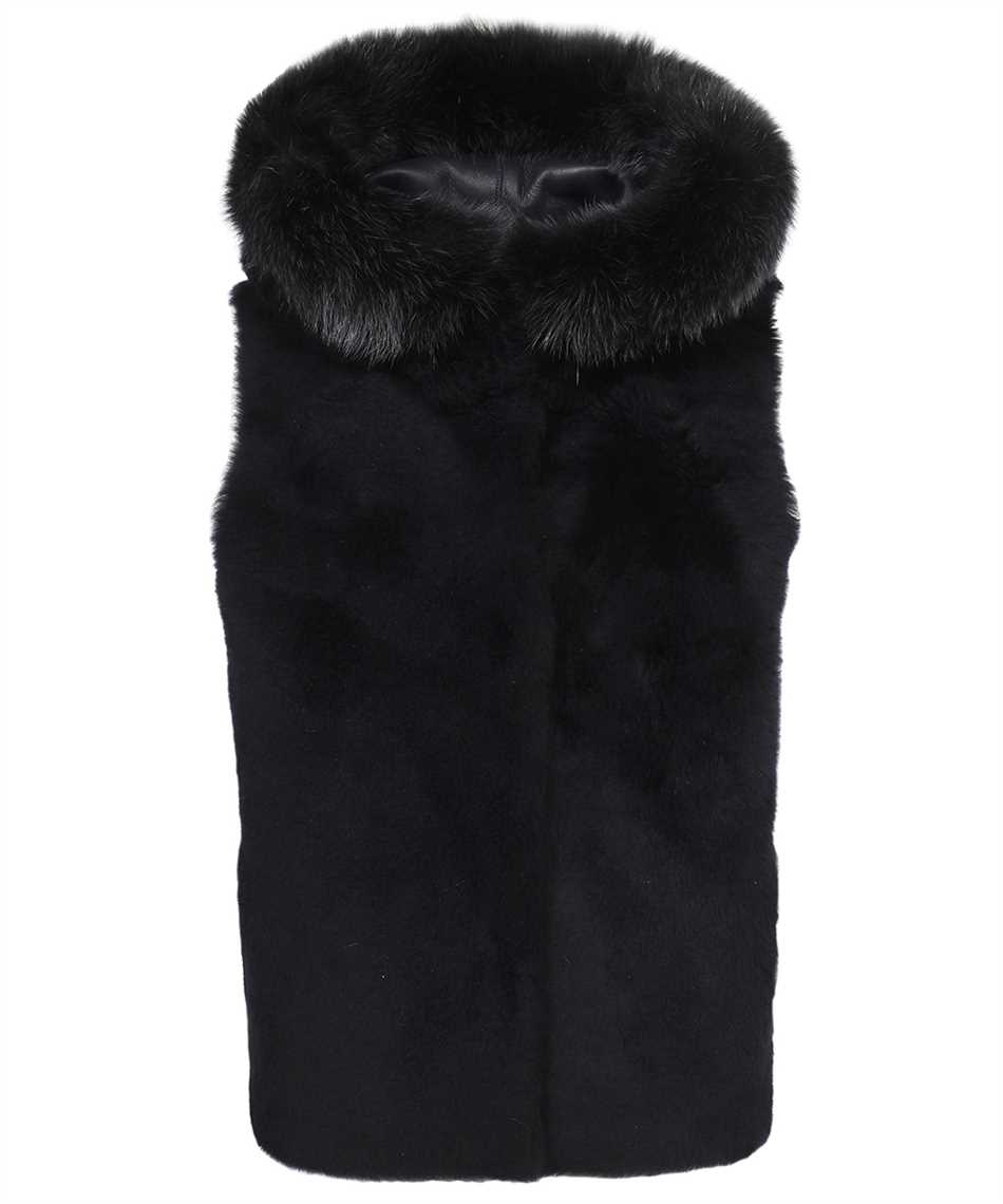 Karl Donoghue CMFHGW1 CASHMERE TOUCH SHEARLING & FOX FUR HOODED Gilet 1