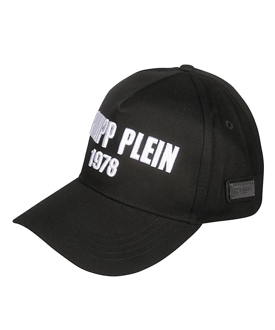 designer nuovo e usato tra qualche giorno scarpe esclusive Philipp Plein S19A MAC0299 PTE004N Cappello da uomo nero Nero