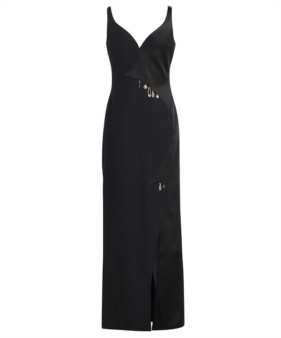 Versace 1001121 1A00940 CHARM-EMBELLISHED SATIN EVENING Kleid 2