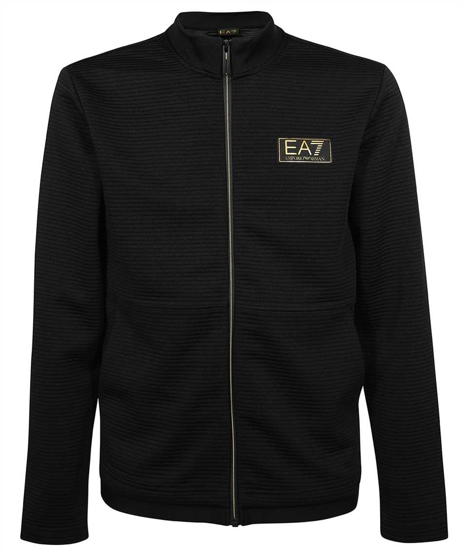 EA7 3KPM91 PJ5TZ ZIPPED COTTON Sweatshirt 1