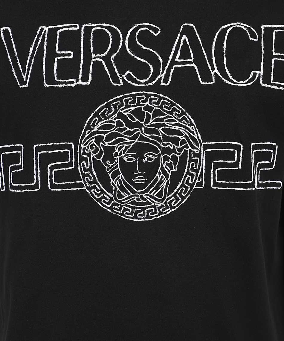 Versace 1001280 1A00915 MEDUSA LOGO EMBROIDERED T-shirt 3