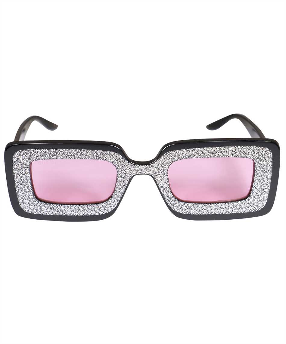 Gucci 663760 J0740 RECTANGULAR-FRAME WITH CRYSTALS Sunglasses 1