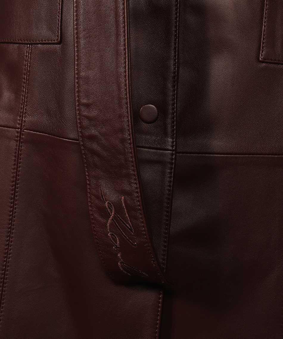 Karl Lagerfeld 216W1900 LEATHER GILET Kleid 3