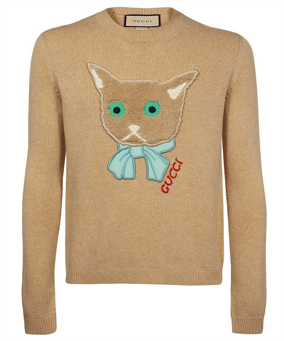 Gucci 662173 XKBYI CAT PATCH Maglia 1