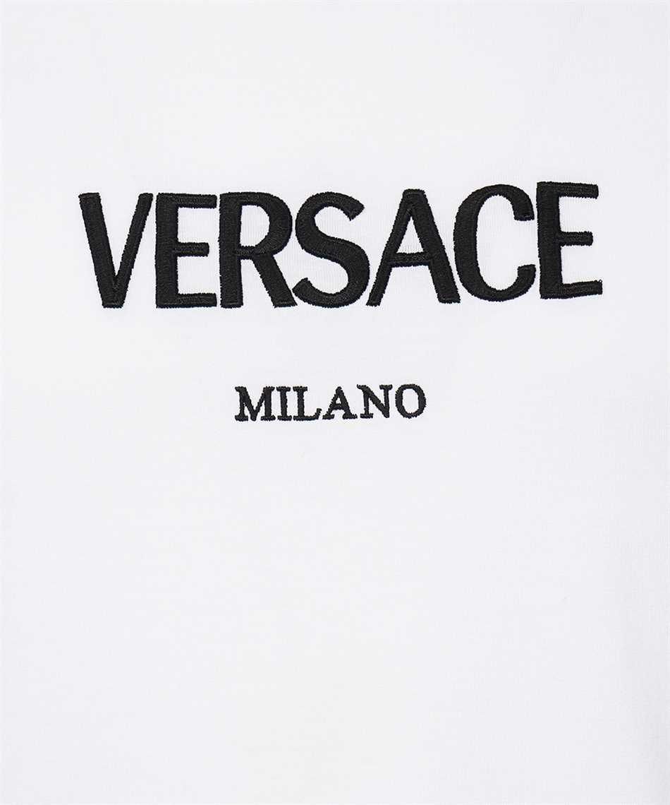Versace A89019 A228806 LOGO EMBROIDERED T-Shirt 3
