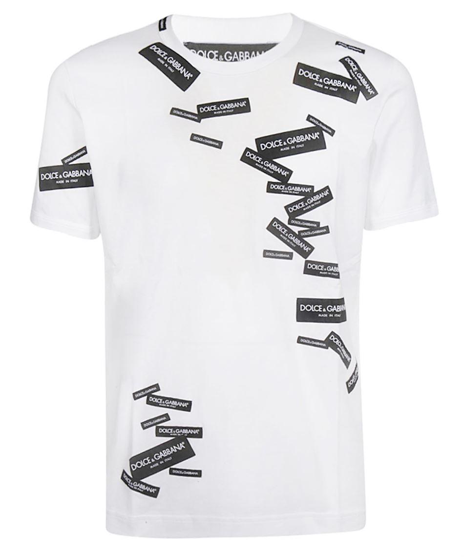 03bbe05e637 Dolce & Gabbana G8IV0Z G7RJ Men's white cotton t-shirt White