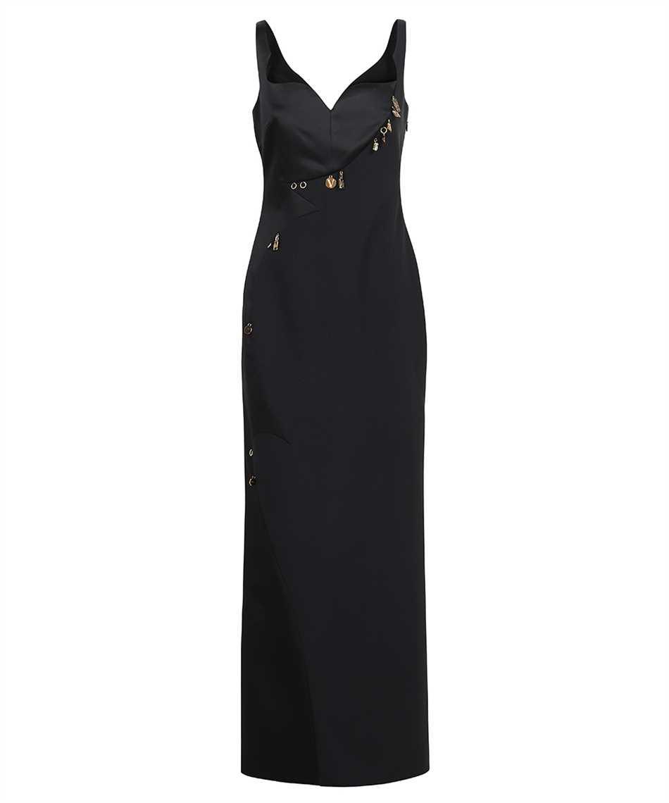 Versace 1001121 1A00940 CHARM-EMBELLISHED SATIN EVENING Kleid 1