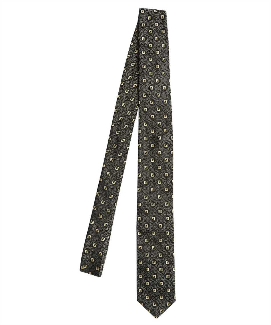 Fendi FXC023 AFY2 JACQUARD FF Cravatta 1
