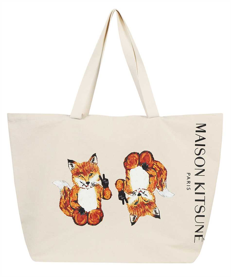 Maison Kitsune HU05132WW0008 ALL-RIGHT FOX CLASSIC TOTE Tasche 1