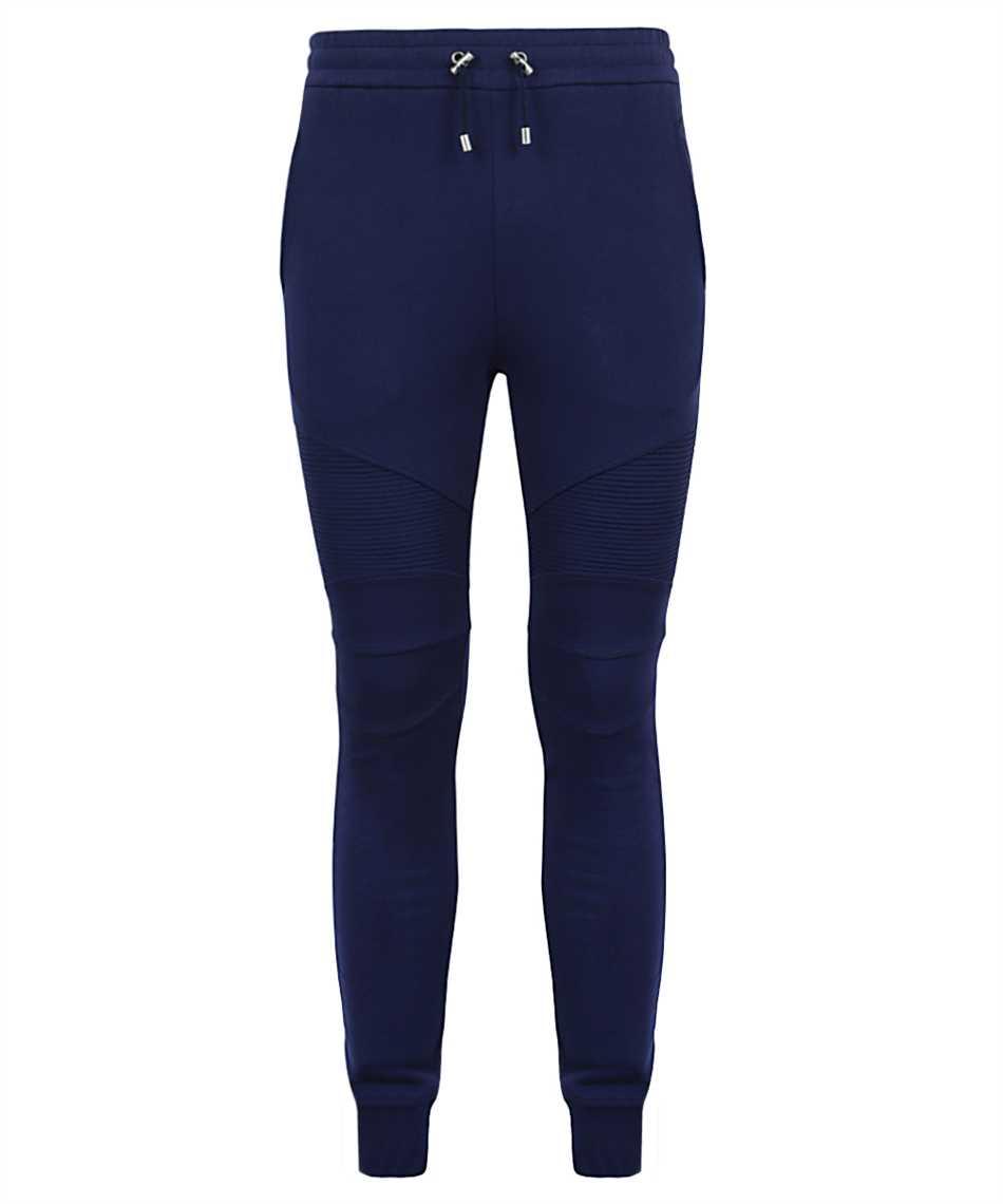 Balmain VH1OB000B028 PRINTED RIBBED Trousers 1