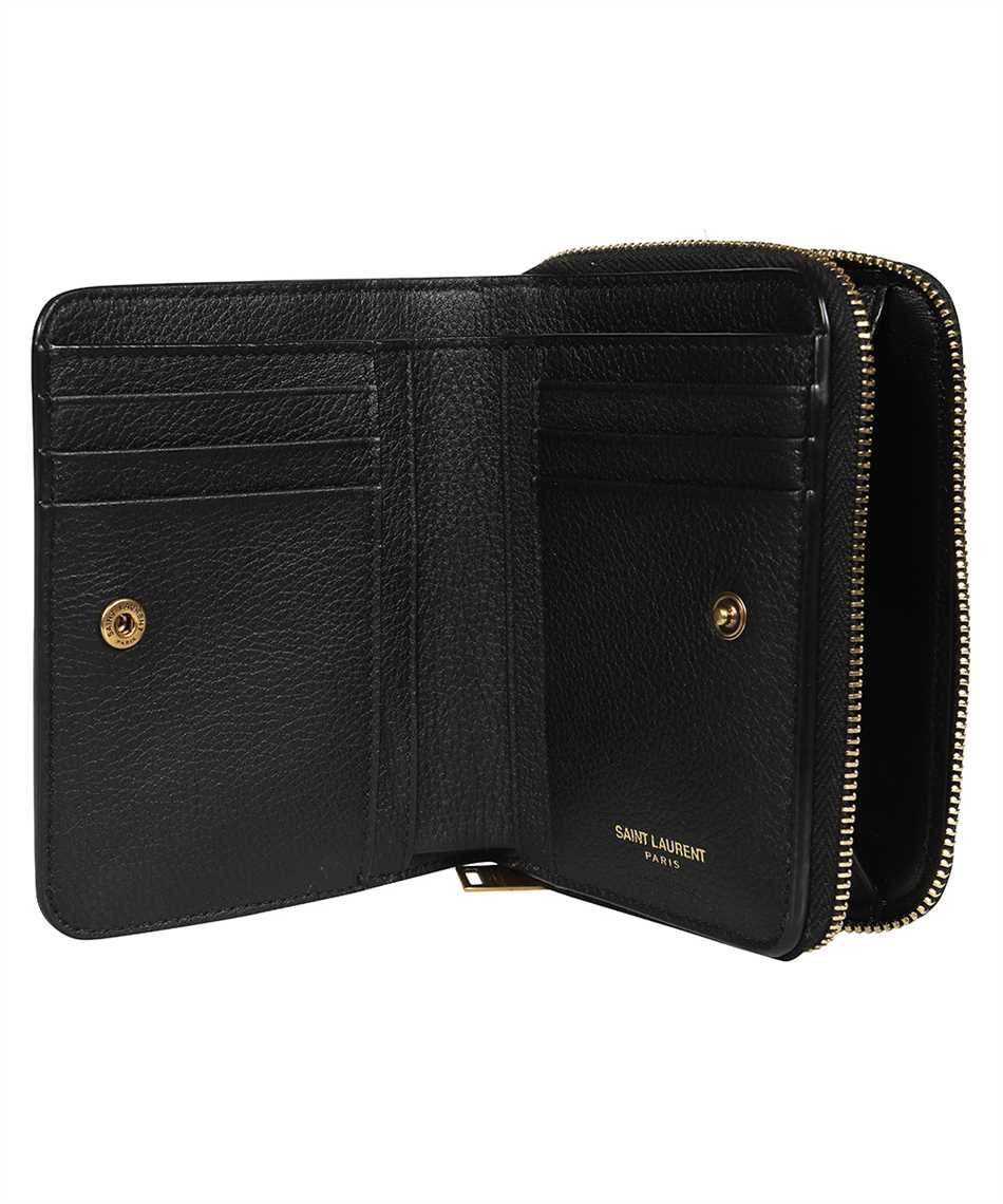 Saint Laurent 668936 15B0W SMALL ZIP-AROUND Wallet 3