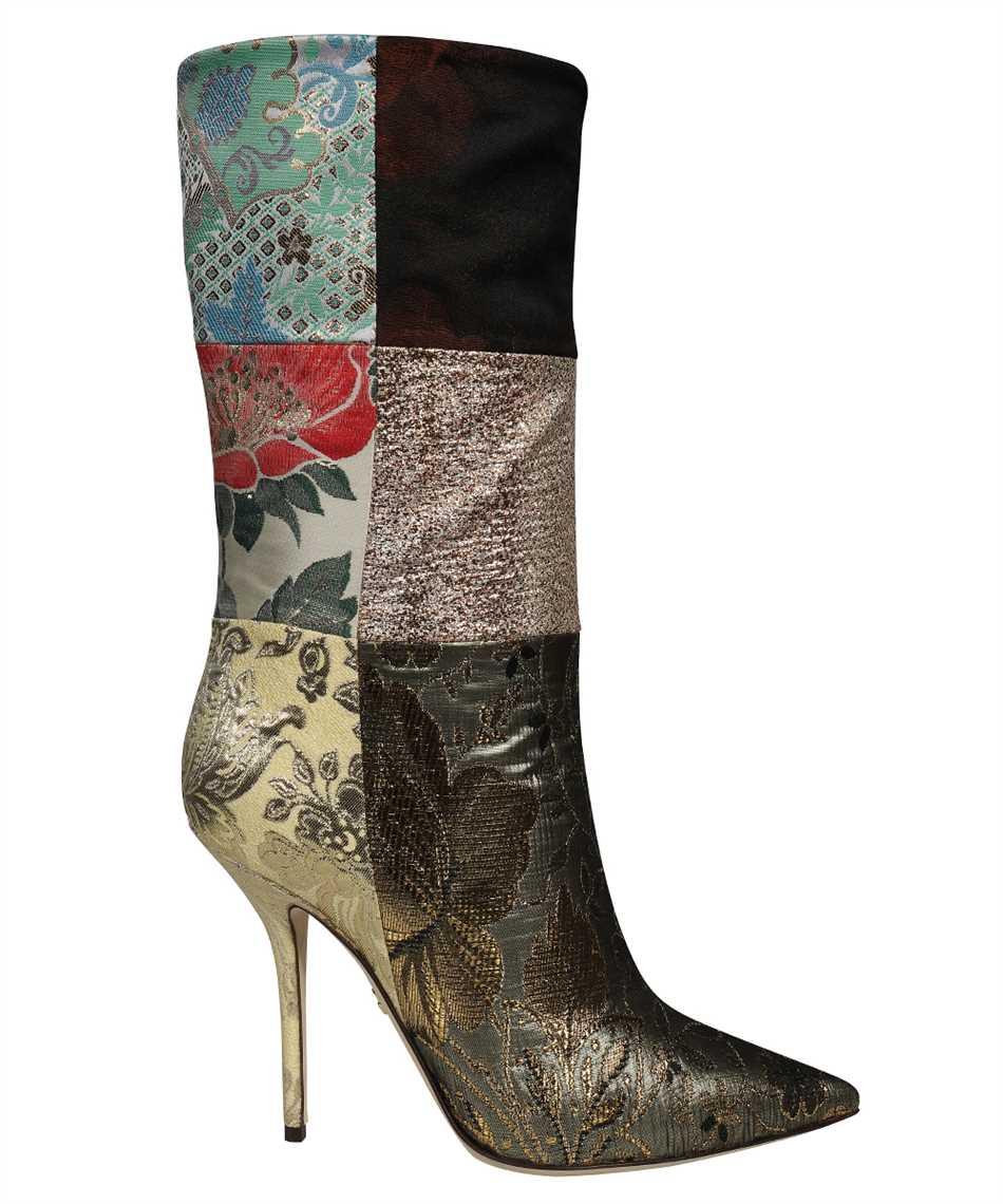 Dolce & Gabbana CT0735 AO657 PATCHWORK FABRIC ANKLE Boots 1