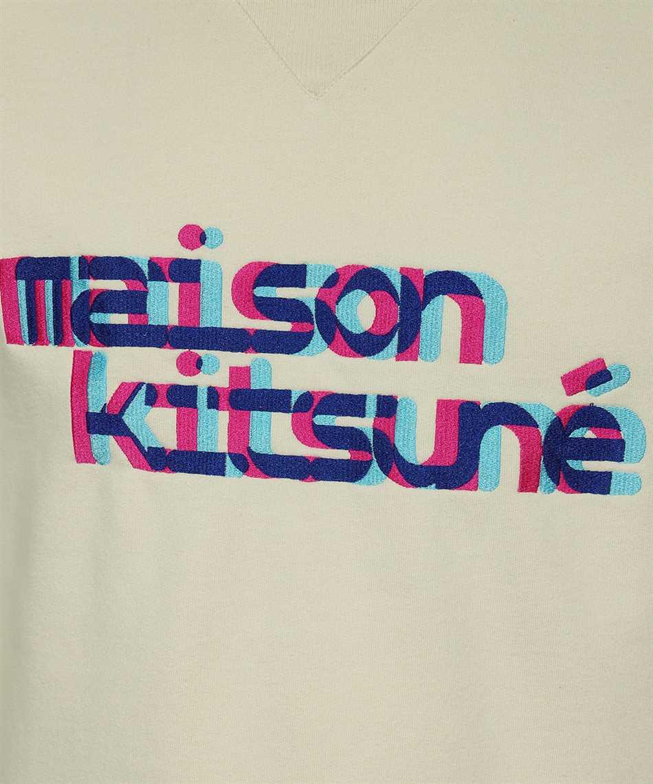 Maison Kitsune HM00330KM0020 NEON LINE TYPO EMBROIDERY REGULAR Sweatshirt 3