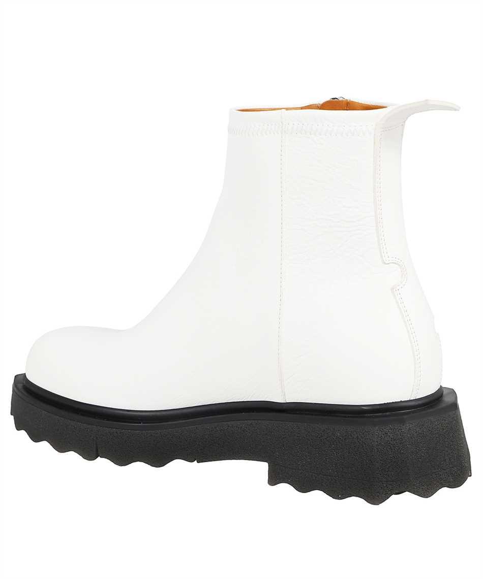 Off-White OMID004F21LEA001 SPONGE SOLE LEATHER ZIP Stiefel 3