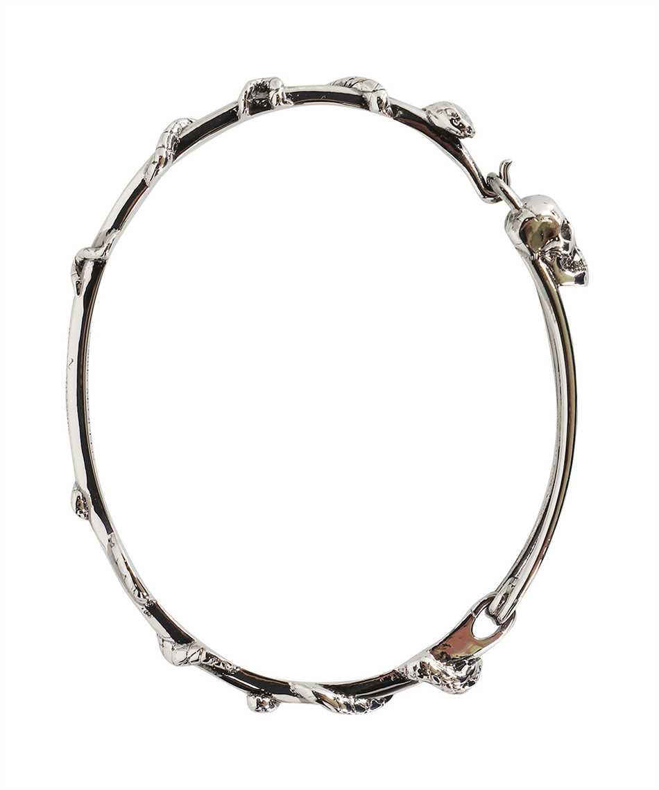 Alexander McQueen 663851 J160Y SKULL SAFETY PIN Bracciale 1
