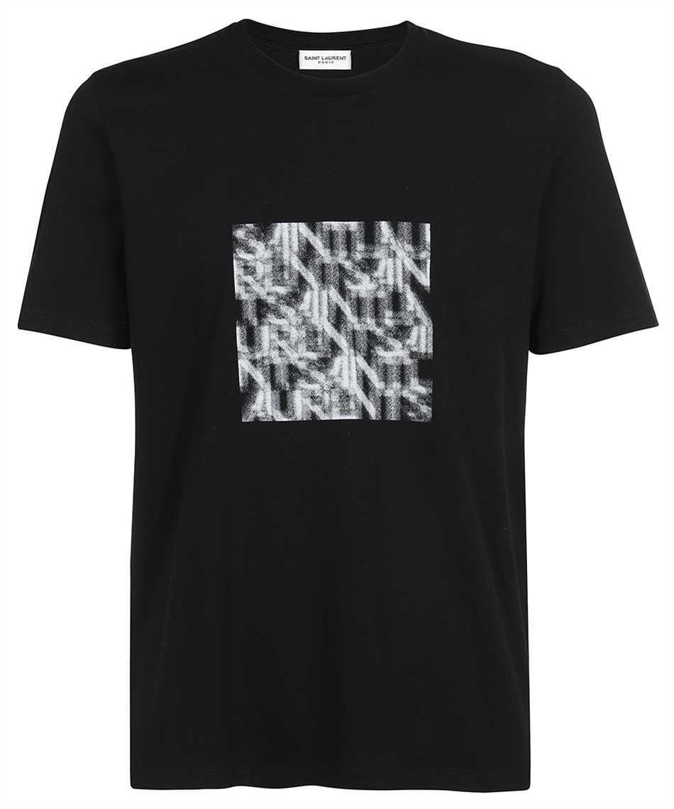 Saint Laurent 665271 Y36HP OPTICAL ILLUSION T-shirt 1