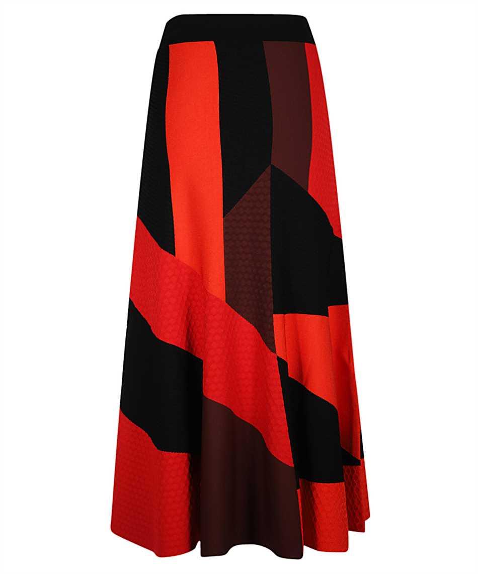 Alexander McQueen 641901 Q1ARR PATCHWORK KNT Skirt 2