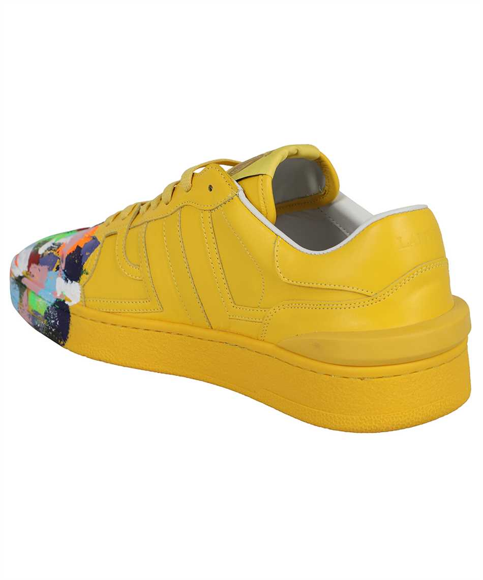 Lanvin FM SKDK00 MAGD E21 PAINTED CALFSKIN LEATHER CLAY LOW-TOP Sneakers 3