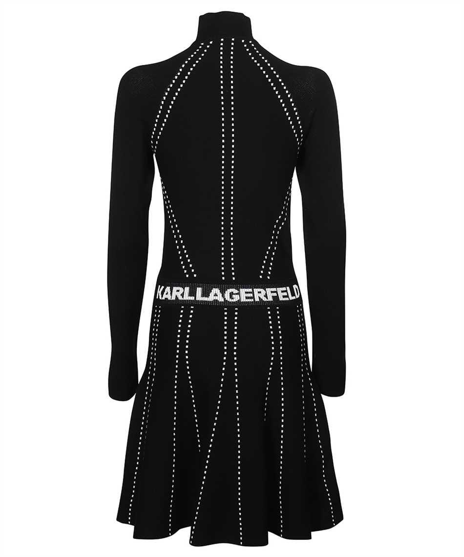 Karl Lagerfeld 216W2031 CONTRAST STITCH KNIT Kleid 2