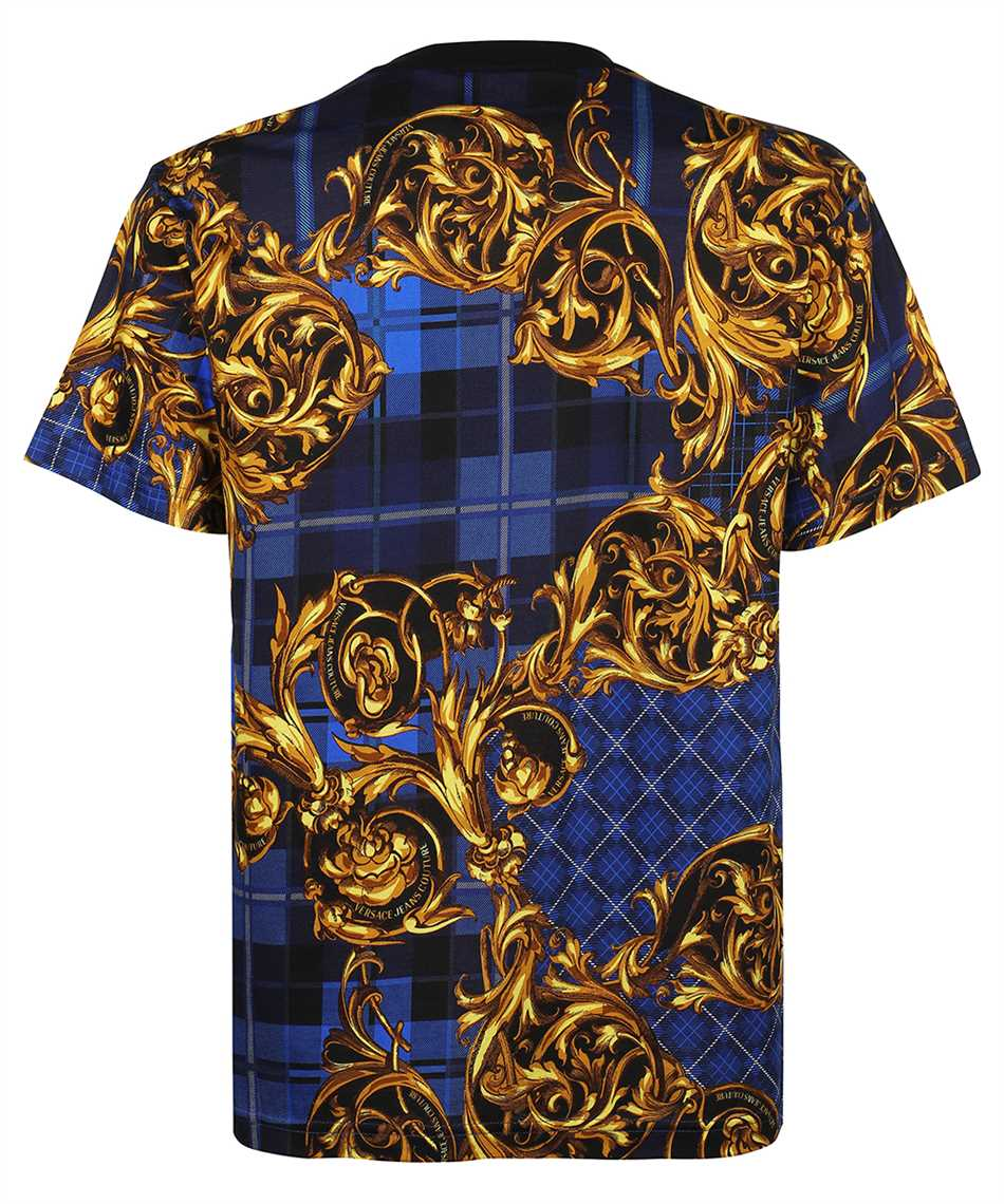Versace Jeans Couture 71GAH6R6 JS025 TARTAN BAROQUE PRINT T-shirt 2