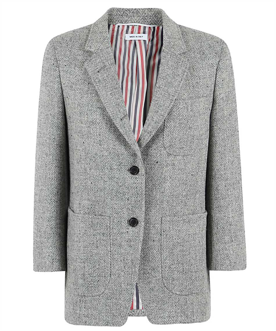 Thom Browne FBC334V 02508 HERRINGBONE HARRIS TWEED Giacca 1