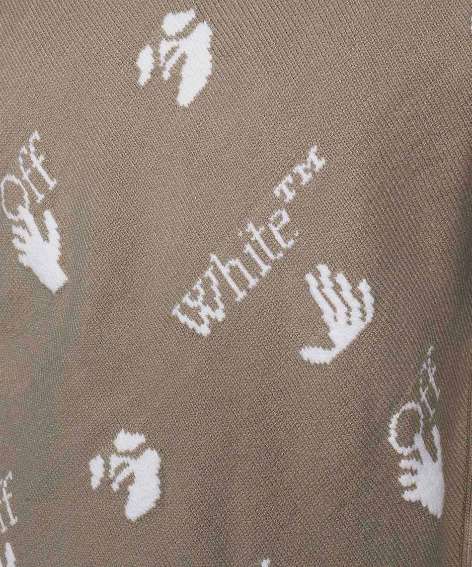 Off-White OMHE095F21KNI001 OW LOGO ALLOVER Knit 3