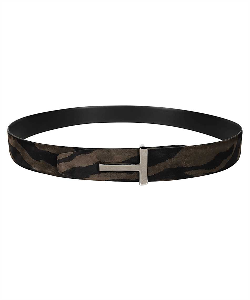 Tom Ford TB178P-LCL078 ZEBRA SUEDE T ICON Belt 1