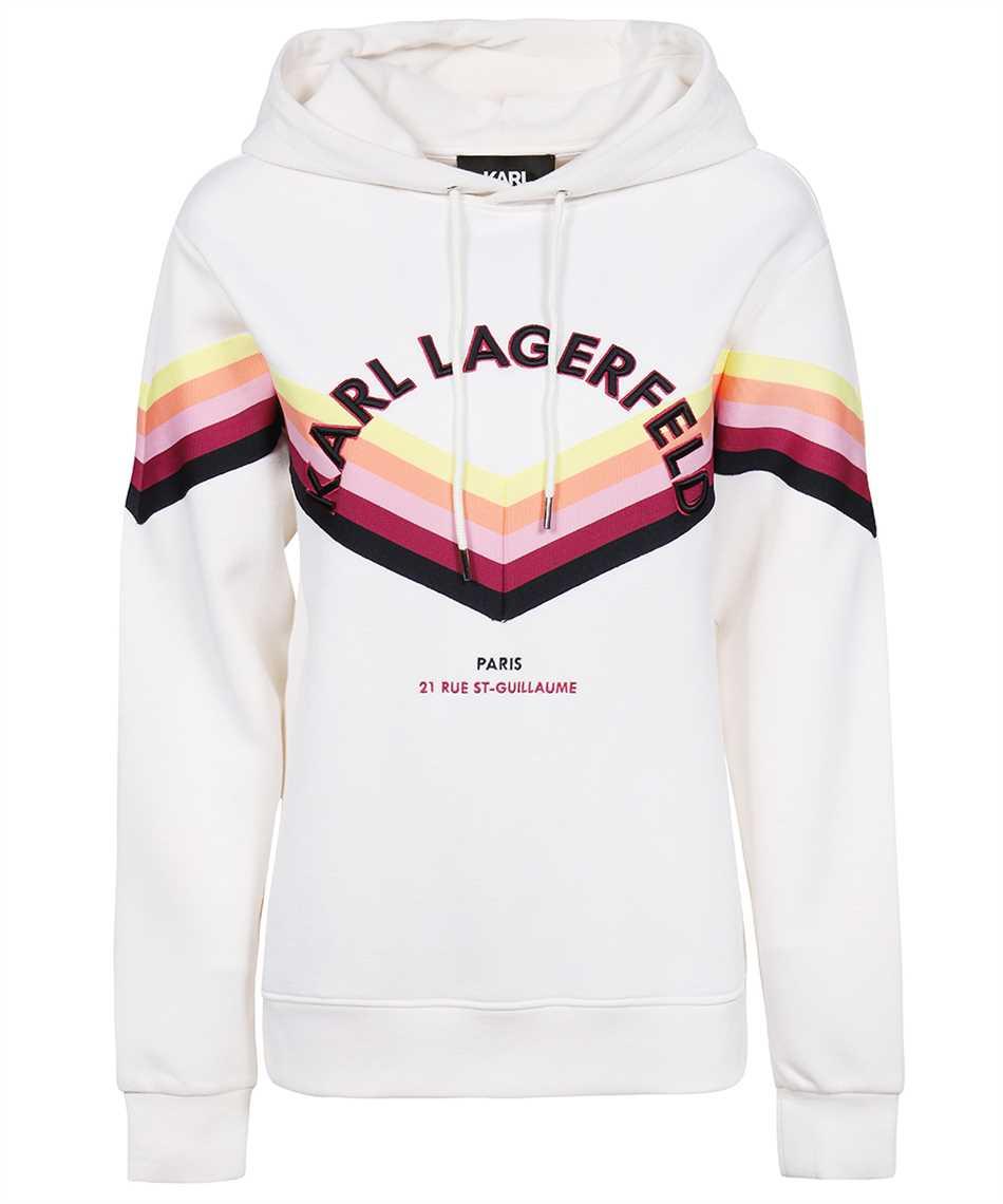 Karl Lagerfeld 215W1807 STRIPED Hoodie 1