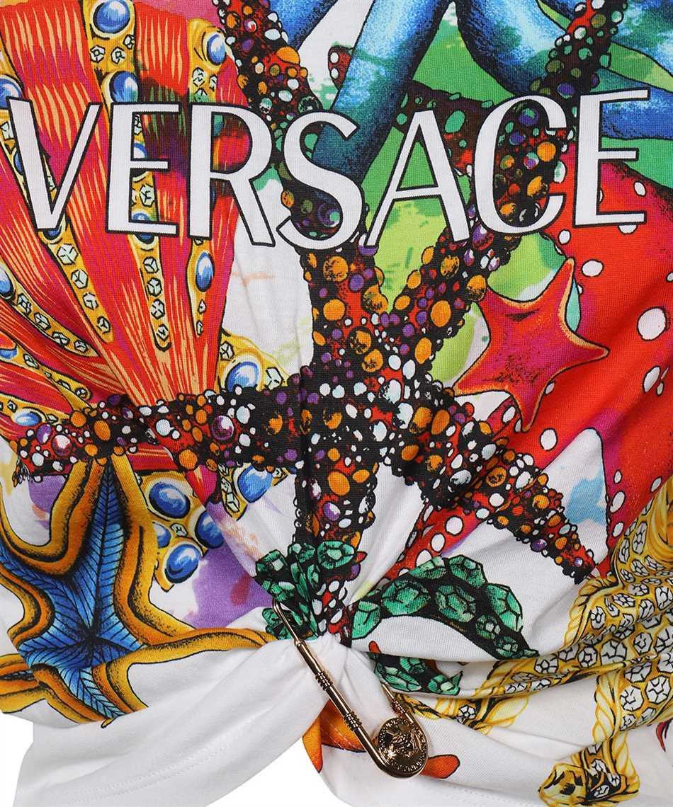 Versace A89371 1F01209 TRÉSOR DE LA MER PRINT CROP T-Shirt 3