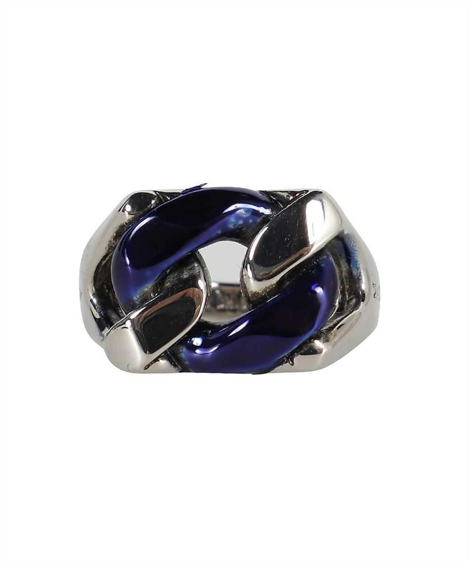 Alexander McQueen 663692 IAG2Y BLUE CHAIN Ring 3