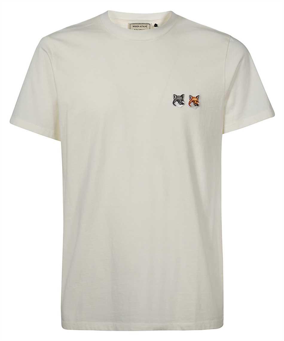 Maison Kitsune BU00103KJ0008 DOUBLE FOX HEAD PATCH T-shirt 1