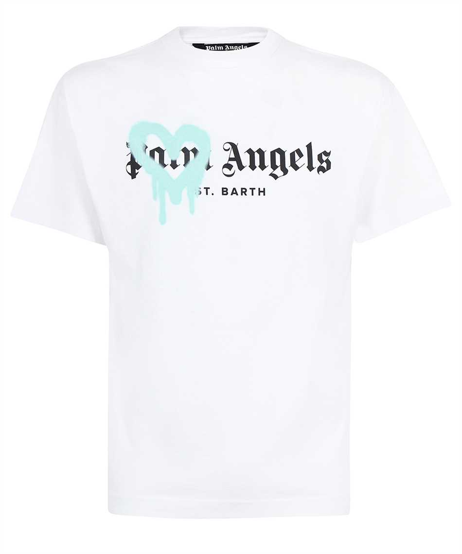 Palm Angels PMAA001F21JER001 ST BARTH HEART SPRAYED T-shirt 1