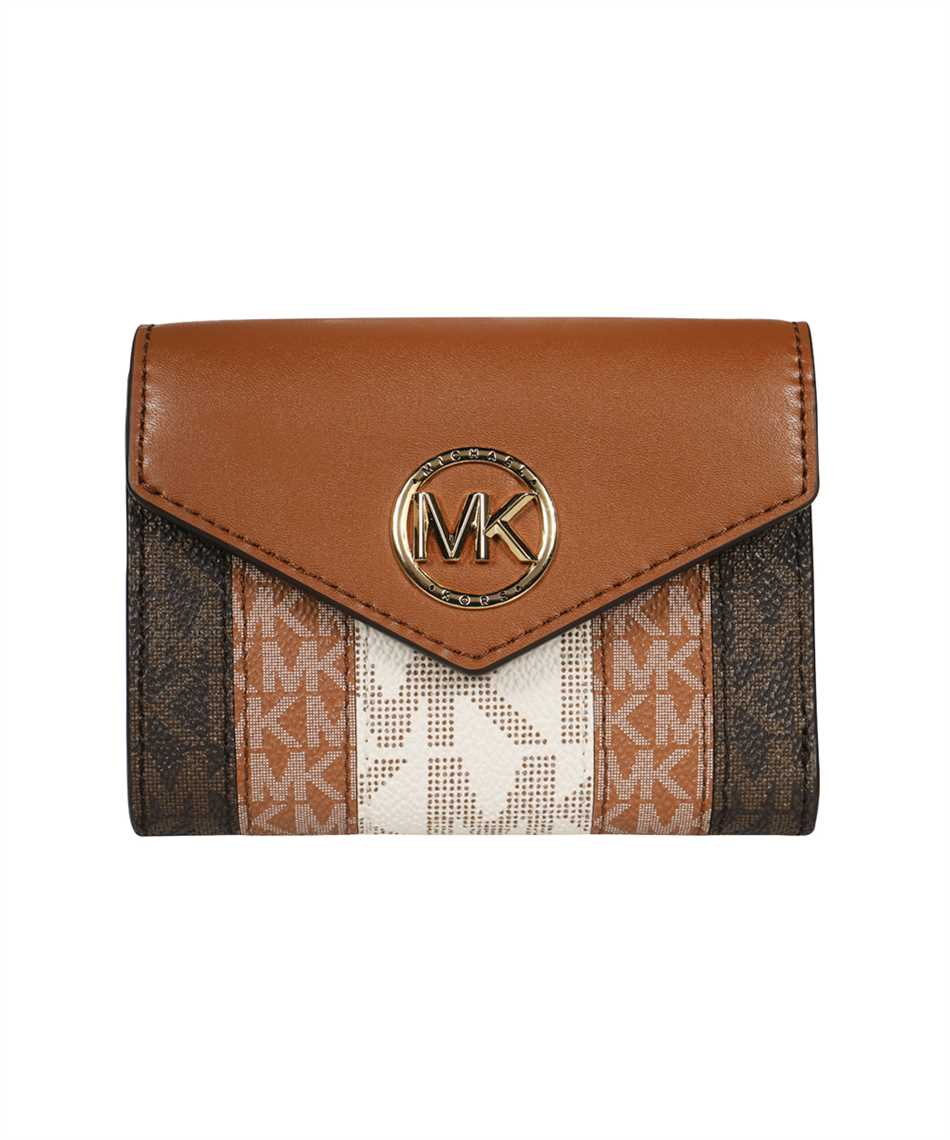 Michael Kors 34T1GNME6O CARMEN MEDIUM COLOR-BLOCK LOGO TRI-FOLD Wallet 1