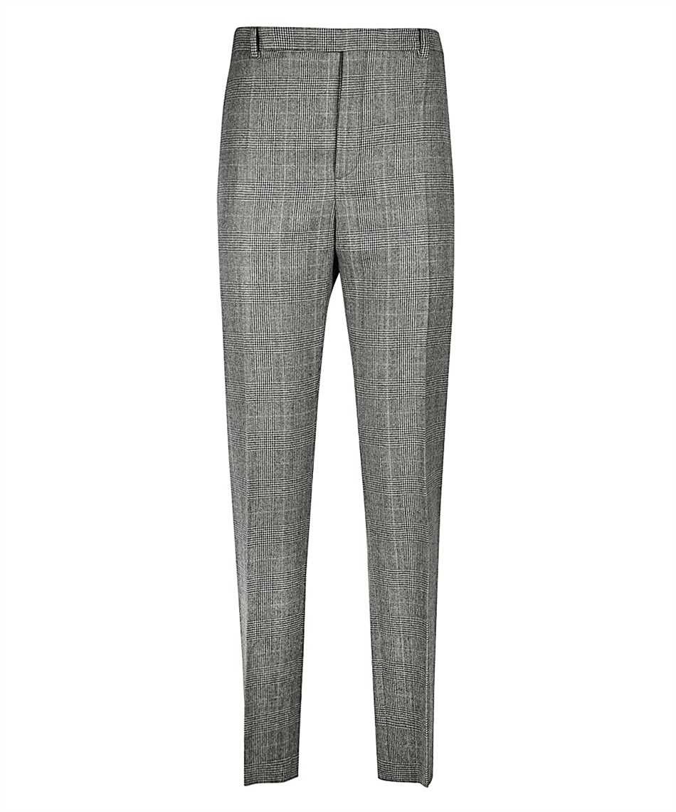 Saint Laurent 596927 Y1B54 PRINCE OF WALES FLANNEL Pantalone 1