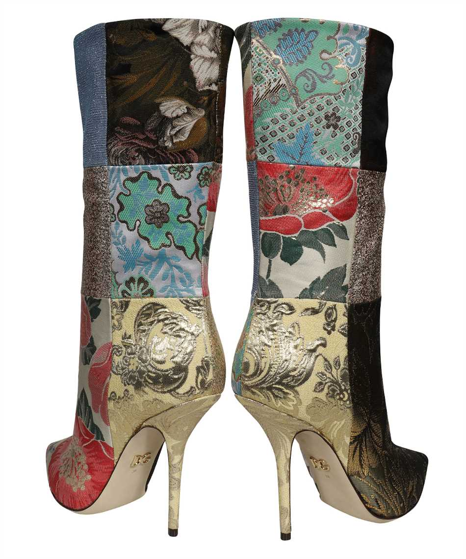 Dolce & Gabbana CT0735 AO657 PATCHWORK FABRIC ANKLE Boots 3