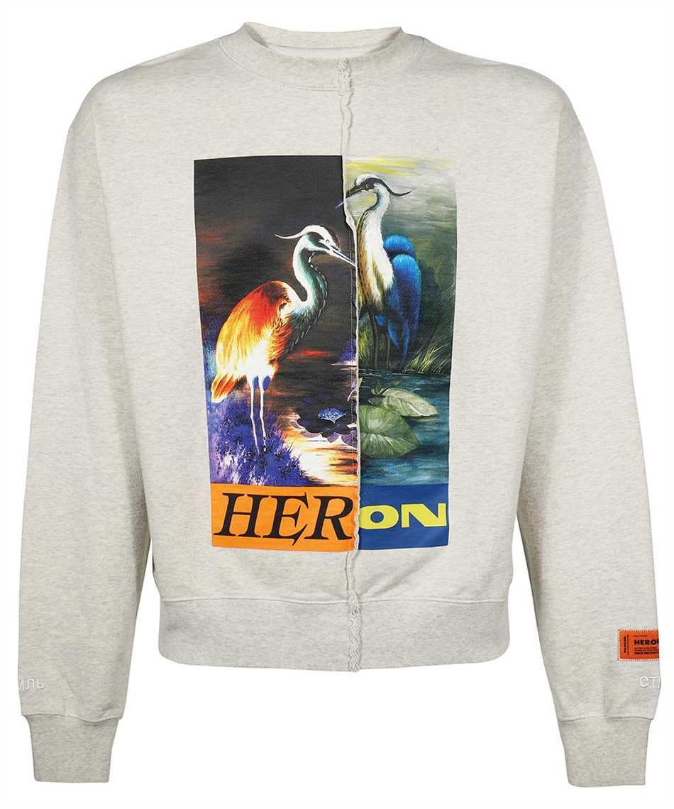 Heron Preston HMBA018F21JER002 SPLIT GRAPHIC Sweatshirt 1
