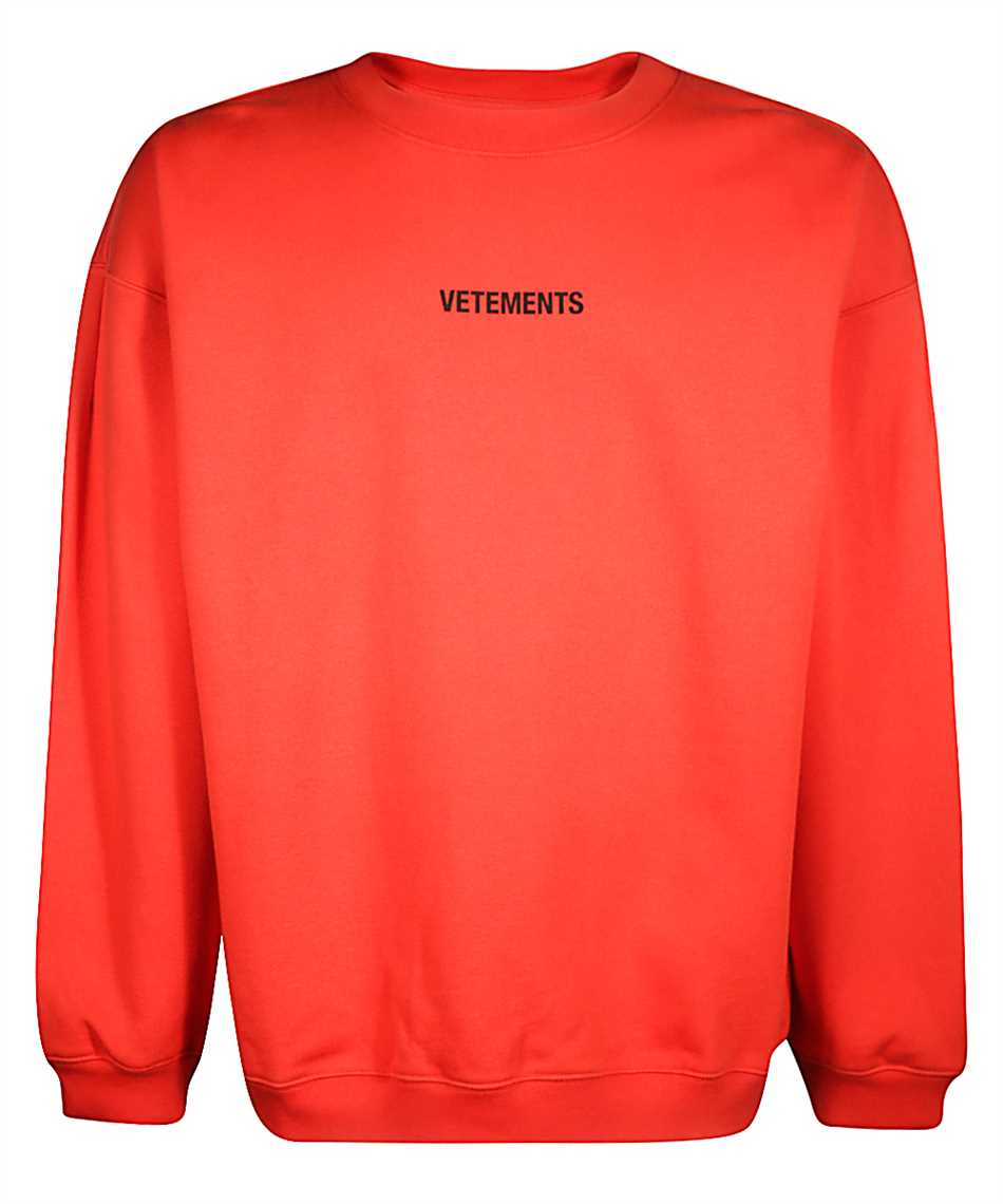 Vetements Uah20tr726 Logo Sweatshirt Red Red