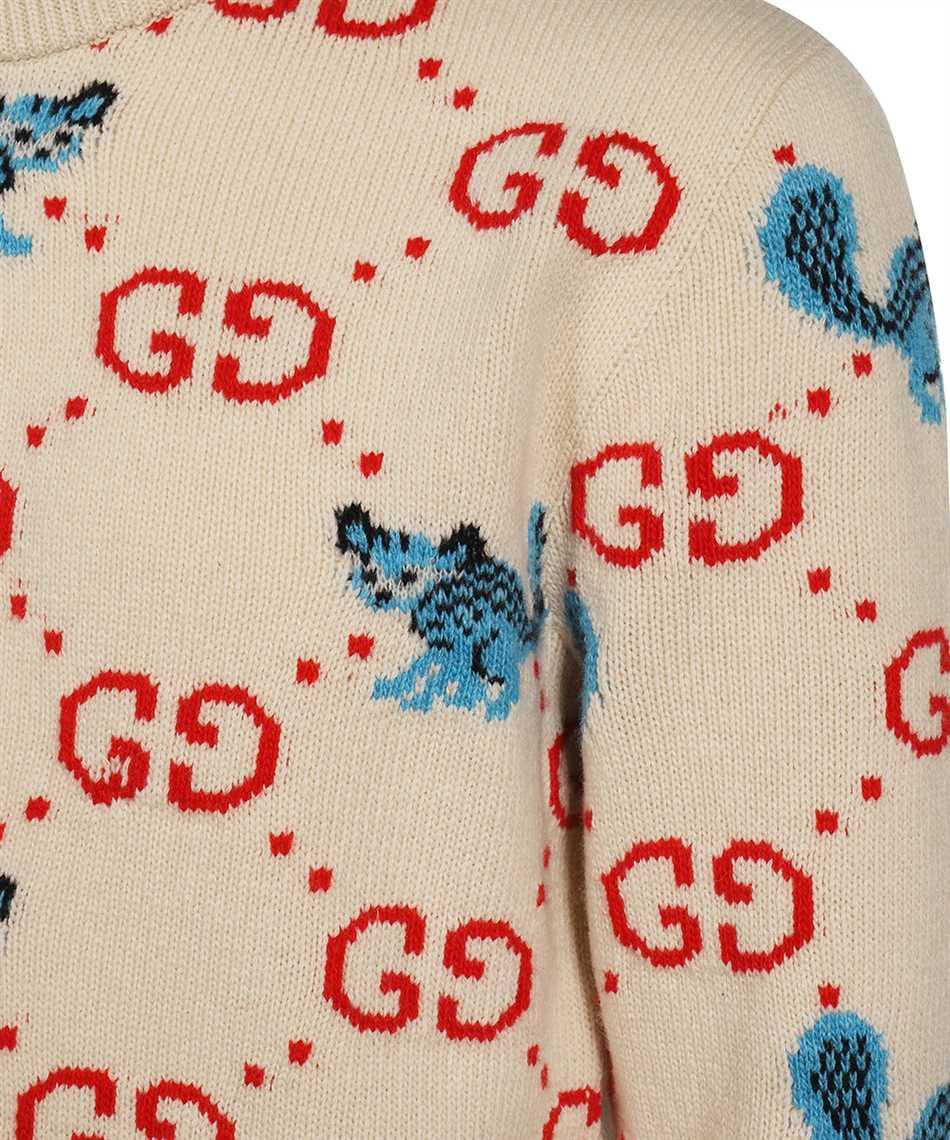Gucci 661836 XKBXX FREYA HARTAS GG ANIMAL Strick 3