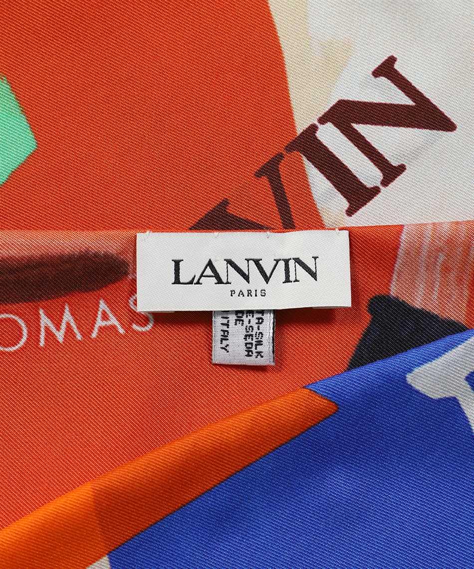 Lanvin AW SAFT01 GADE E21 GALLERY DEPARTMENT PRINT SILK 121X41 Schal 2