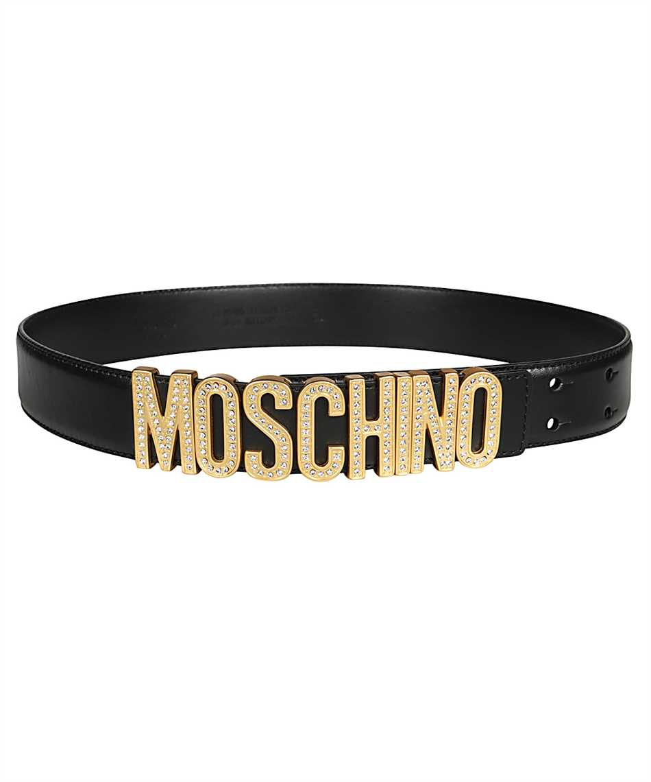 Moschino A8013 8006 RHINESTONES LOGO Gürtel 1