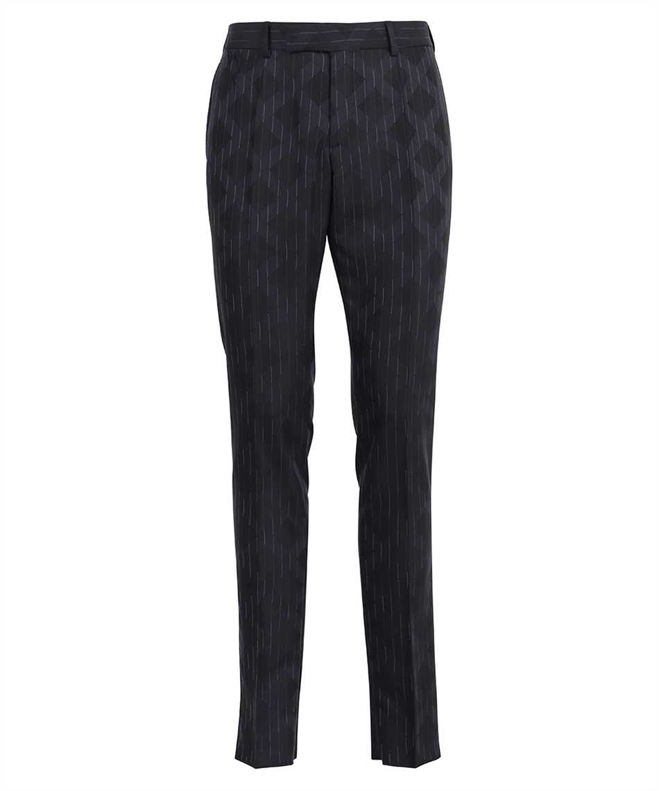Versace A89256 1A00895 PINSTRIPE ARGYLE WOOL JACQUARD Trousers 1