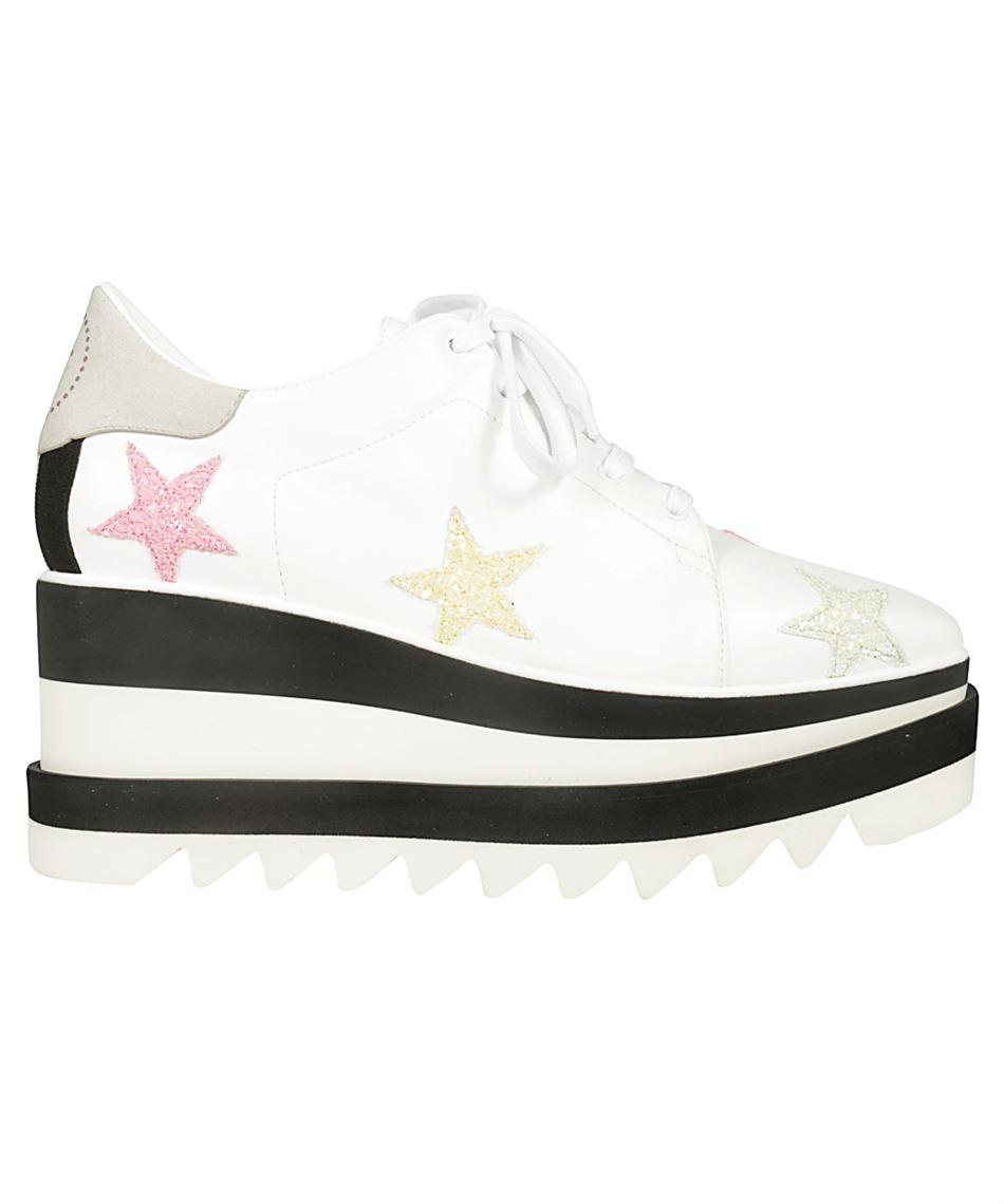 meet 98268 a0295 Stella McCartney 501778 W1NR2 scarpe con zeppa bicolore Bianco e Nero