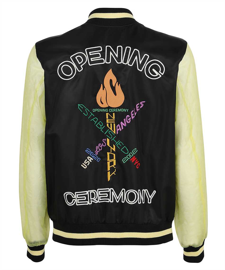 Opening Ceremony YMEH001S21FAB001 WORD TORCH Giacca 2