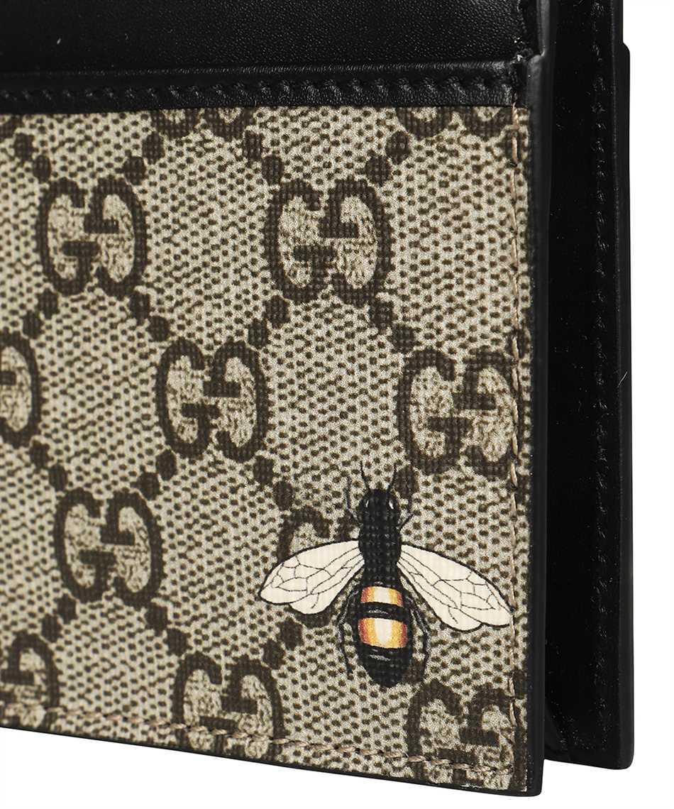 Gucci 597555 KST1N BEE PRINT GG SUPREME Porta carte di credito 3