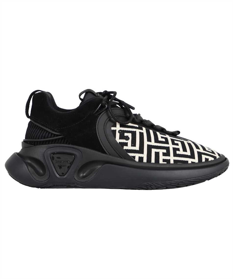 Balmain WM0VI261TKNM B RUNNER-MONOGRAM KNIT&SUEDE Sneakers 1