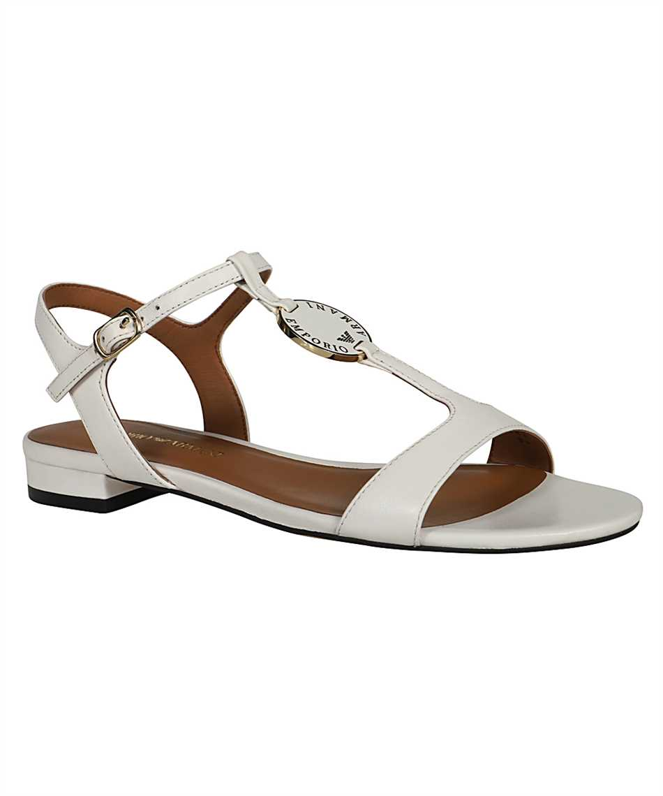 Emporio Armani X3P640 XF438 LEATHER Sandalen 2
