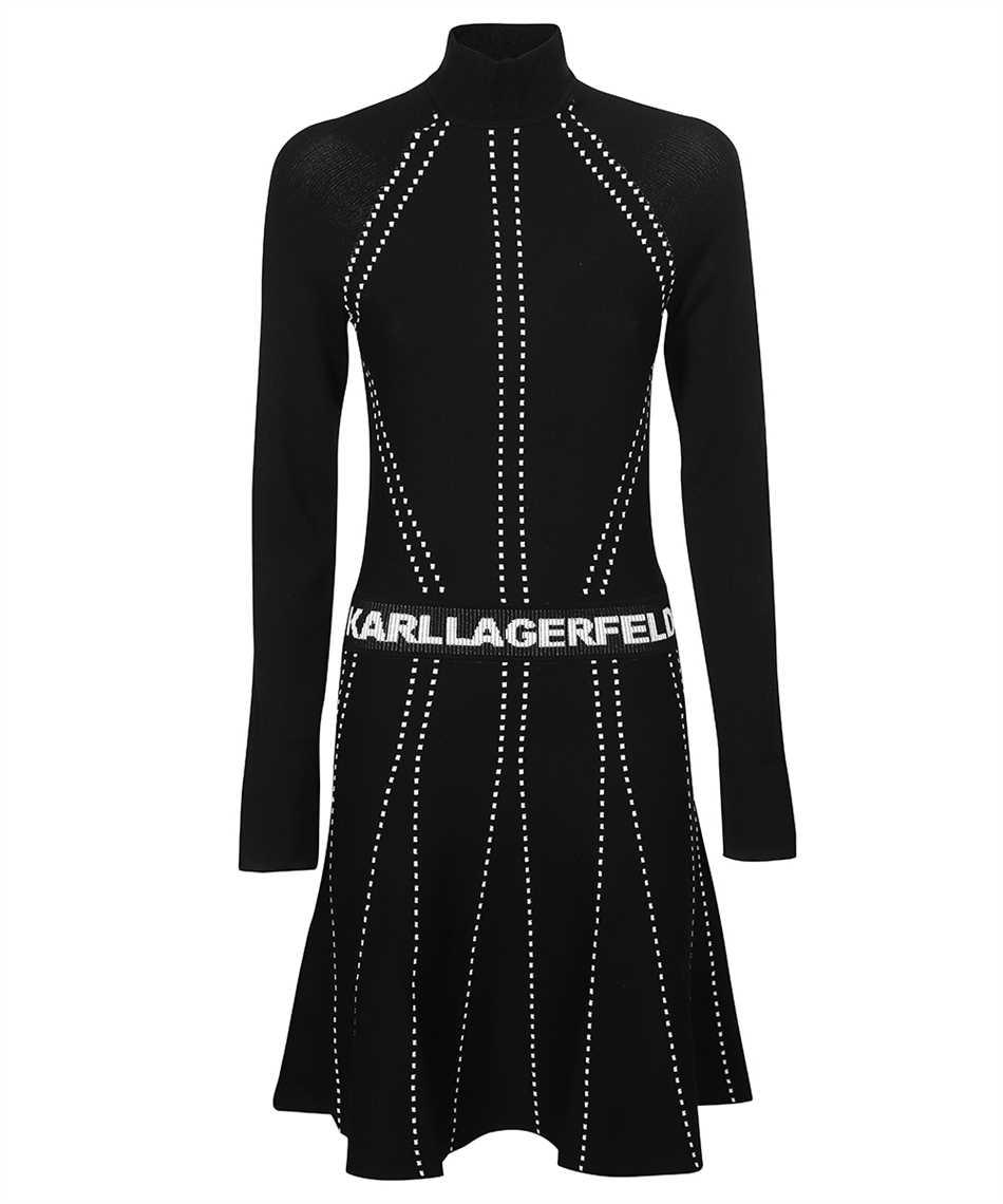 Karl Lagerfeld 216W2031 CONTRAST STITCH KNIT Kleid 1