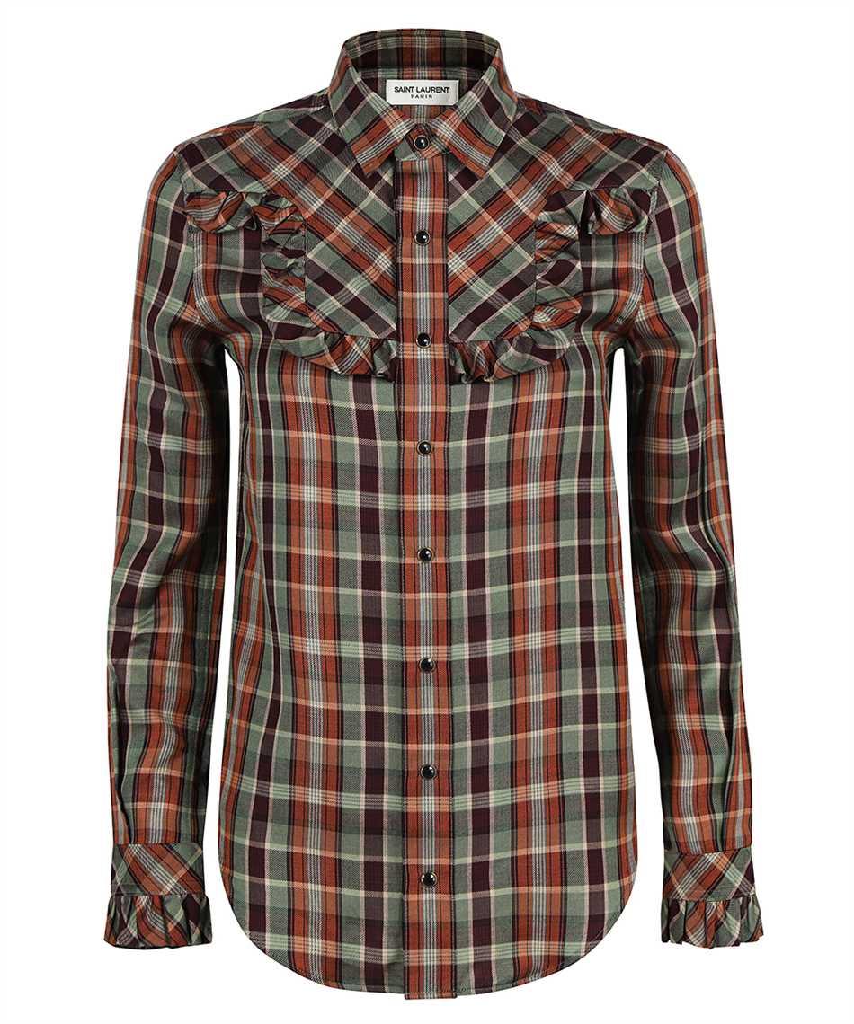 Saint Laurent 663877 Y22DA FITTED WESTERN Shirt 1